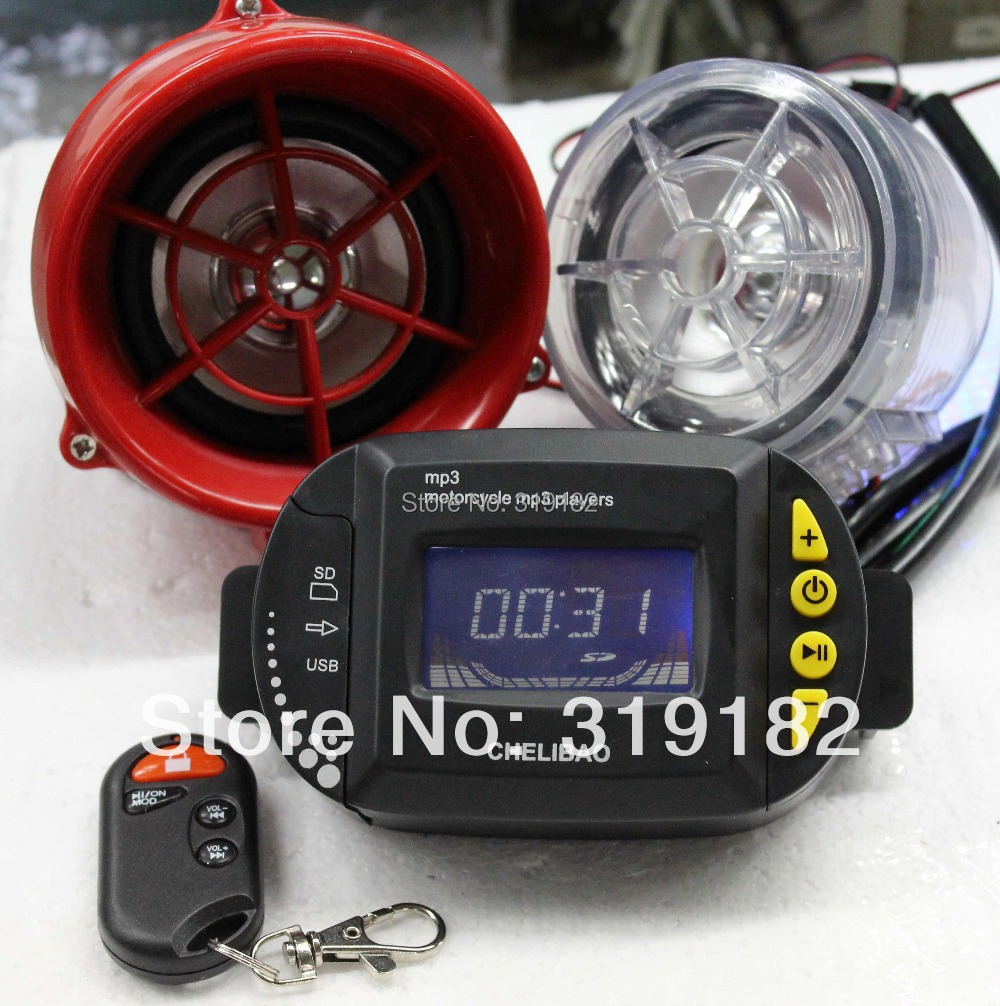 cheapest /motorcycle MP3 LCD display MP3 Audio alarm system +Motorcycle anti-theft digital MP3 +FM+usb/sd+lcd display fm модулятор lcd sd usb mp3