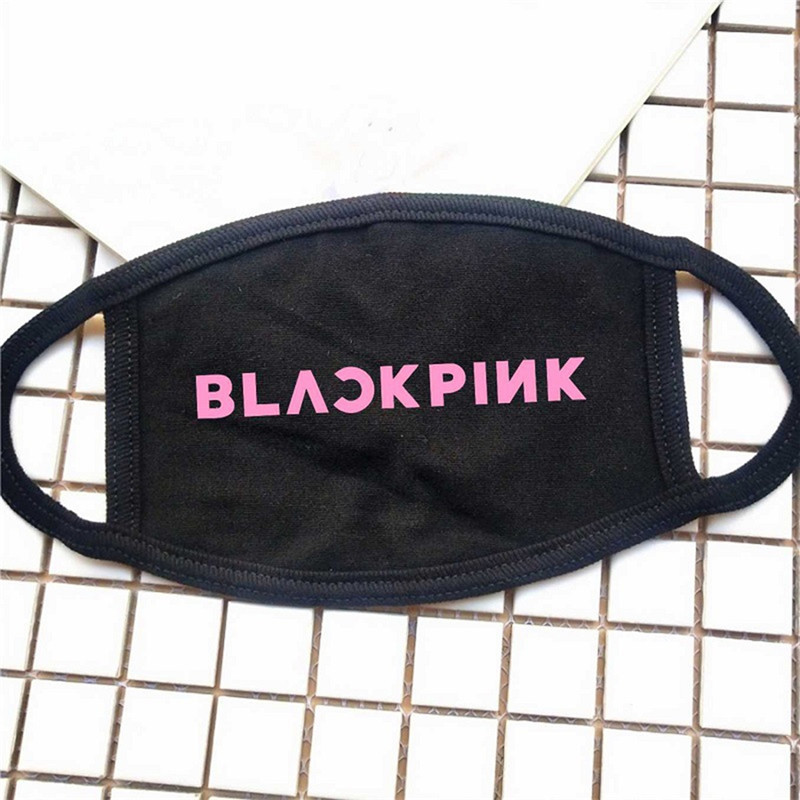 Black Cotton Sleep Month Mask Unisex New Antidust Face Masks KPOP BLACKPINK For Men Women Double Layer Dustproof