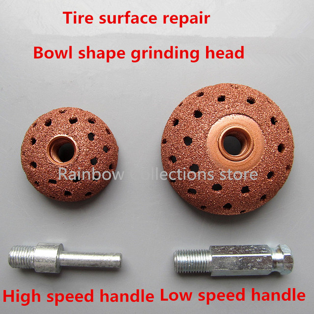 38/55mm Tungsten steel alloy grinding head Car tire grinding head Mushroom head Tire repair tool High/low speed handle