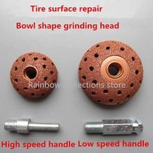 38/55mm tête de meulage en alliage dacier au tungstène tête de meulage de pneu de voiture tête de champignon outil de réparation de pneu poignée haute/basse vitesse
