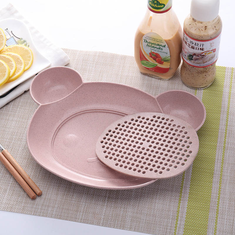 Baby Food Supplement Bowl BPA Free Infant Feeding Sub-grid Tray Set Dishes Toddler Anti-slip Plate Child Eating Tableware MY0023 (6)