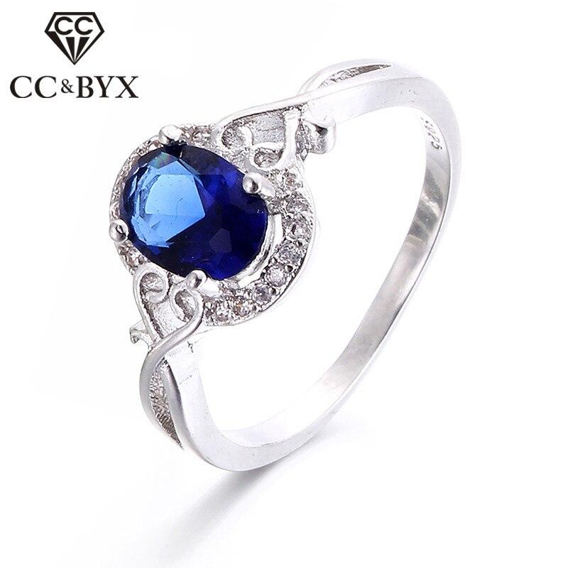 ლურჯი ქვის მაღალი ხარისხის საქორწილო ბეჭდები nuevos anillos 2016 მოდის სამკაულები ქალთა წვეულებისთვის aneis bijoux femme CC156