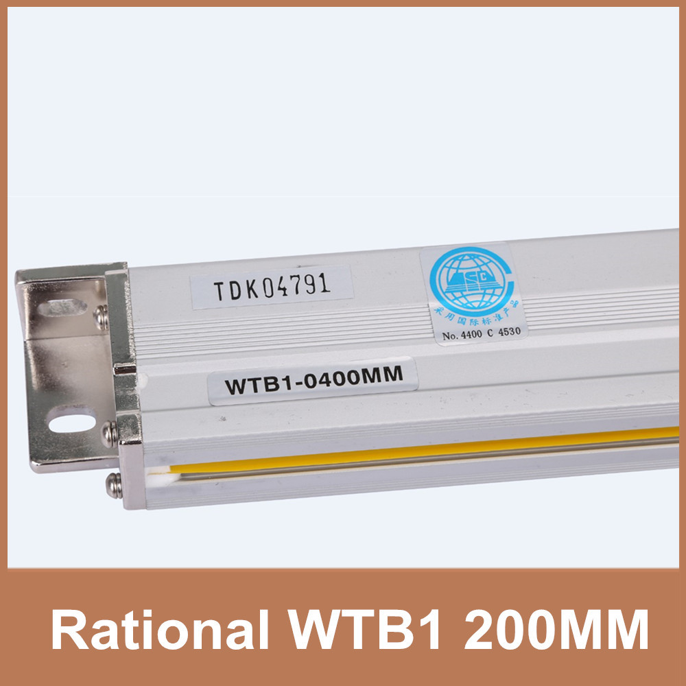 Free Shipping Rational WTB1 1um 200mm glass linear scale TTL 5V 0.001mm linear scale encoder for milling lathe CNC free shipping high precision easson gs11 linear wire encoder 850mm 1micron optical linear scale for milling machine cnc