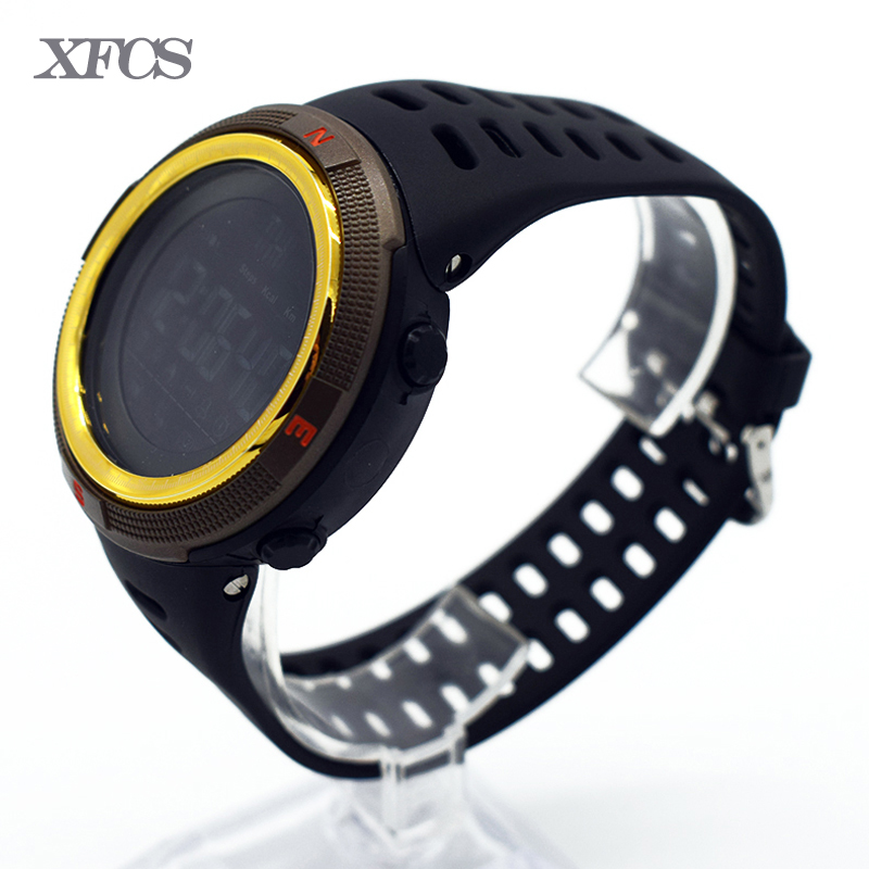 f62f4af9e865 XFCS impermeable digital de muñeca automático relojes para hombres reloj  running mens hombre reloj digitales digitais natación running moda en  Relojes ...