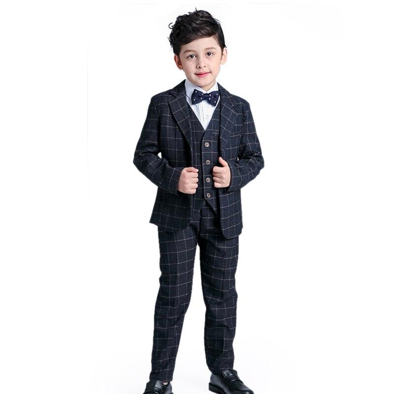2017 Vêtements Y Blazers Ensembles As Garçon Formel Costume 12 Colour Bébé Nouveau 2 Costumes Plaid Enfants Picture Printemps Gentleman custom Smoking nIaxpp7