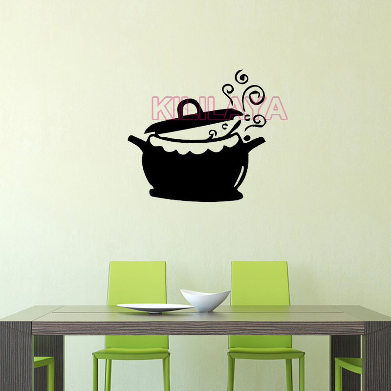Stickers Kittle Boiling Water Design Vinyl Wall Sticker Decals Murals Art Wallpaper For Kitchen Home Decor House Decoration In From
