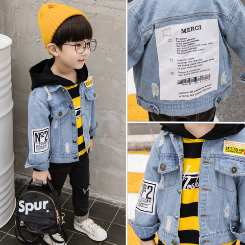 MANJI Children Jeans Jackets New Fashion Style fit 3 to 7 Years Old Spring Autumn Boys Denim Jackets Kids Clothes MKX017 Baby Bo Islamabad