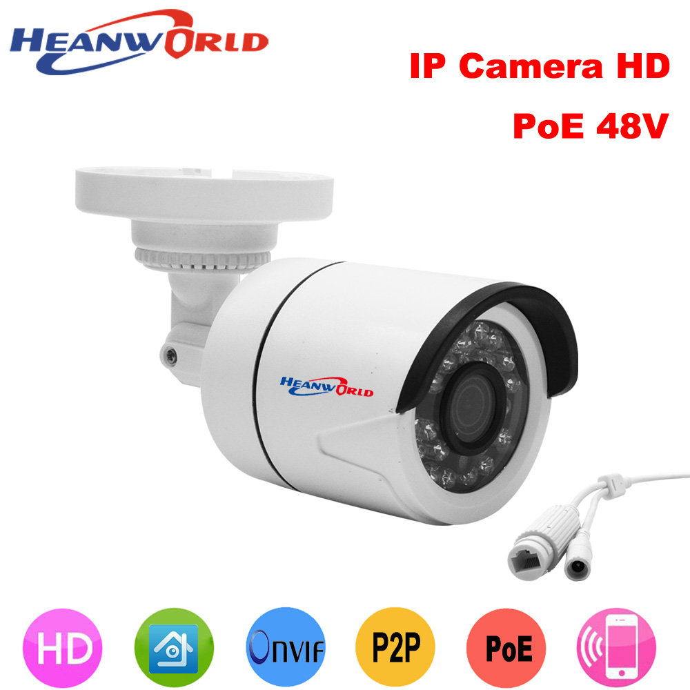 100% Quality Heanworld Special Offer Poe Ip Camera Hd 720p 960p 1080p Support 48v Poe&12v+rj45 Ip Cam Outdoor Use Night Vision Camera Relieving Heat And Thirst. Security & Protection Video Surveillance