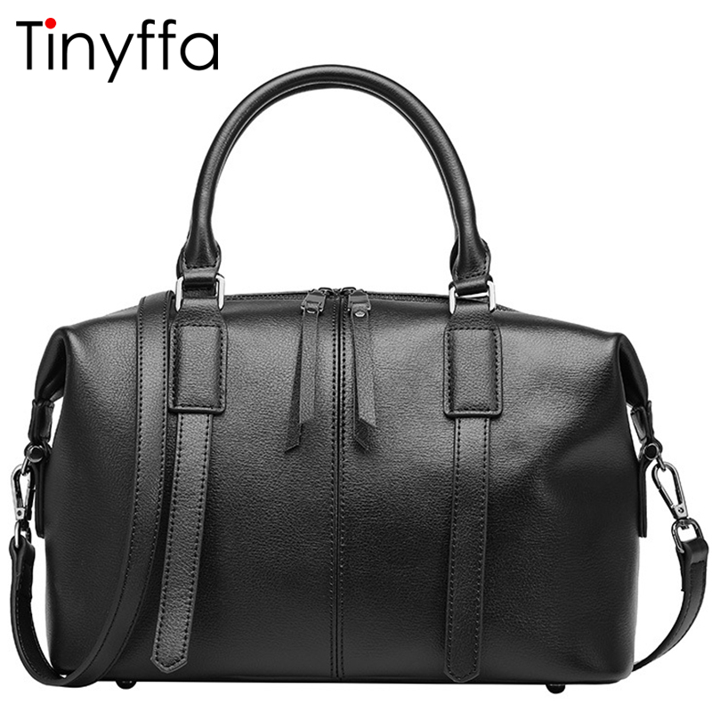 Tinyffa Luxury handbags women bags designer Famous brand Boston Genuine leather Messenger Shoulder Crossbody bag Tote Bag Black marvel captain america civil war iron man action figure collectible model toy