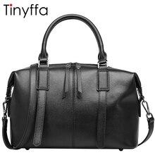 Tinyffa Luxury handbags women bags designer Famous brand Boston Genuine leather Messenger Shoulder Crossbody bag Tote