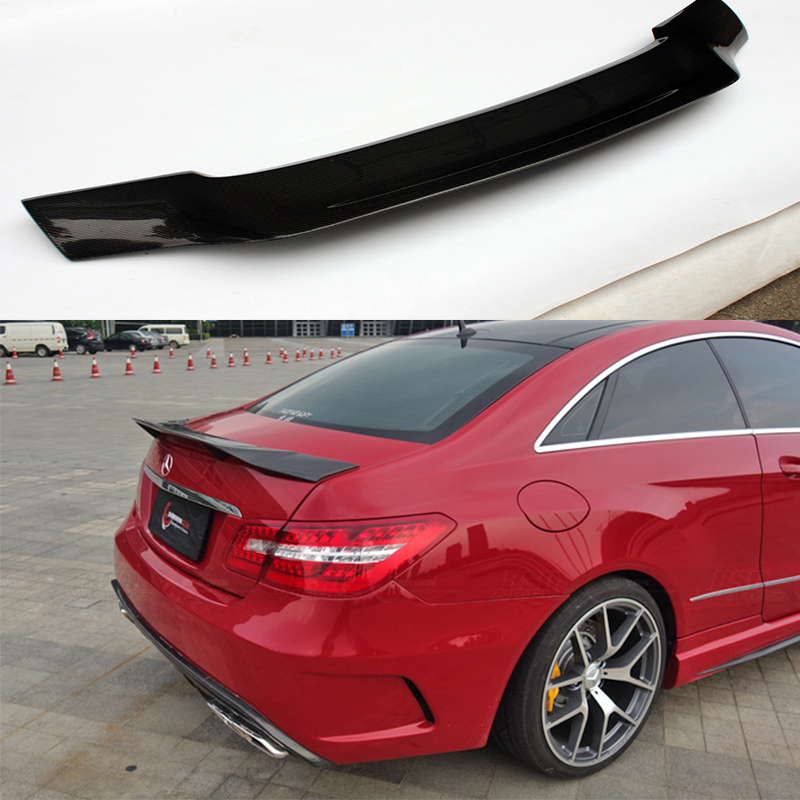 W207 Renntech Style Carbon Fiber Car Rear Trunk Spoiler Wing Body kit for Mercedes Benz W207