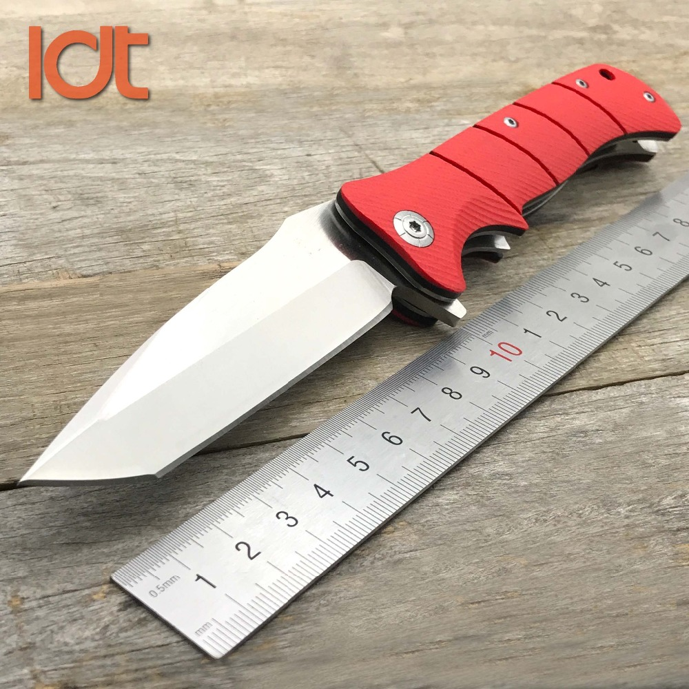 LDT LM 0061 Folding Knives 9Cr18Mov Blade G10 Handle Camping Hunting Survival Knife Outdoor Pocket Tactical Milutary EDC Tool