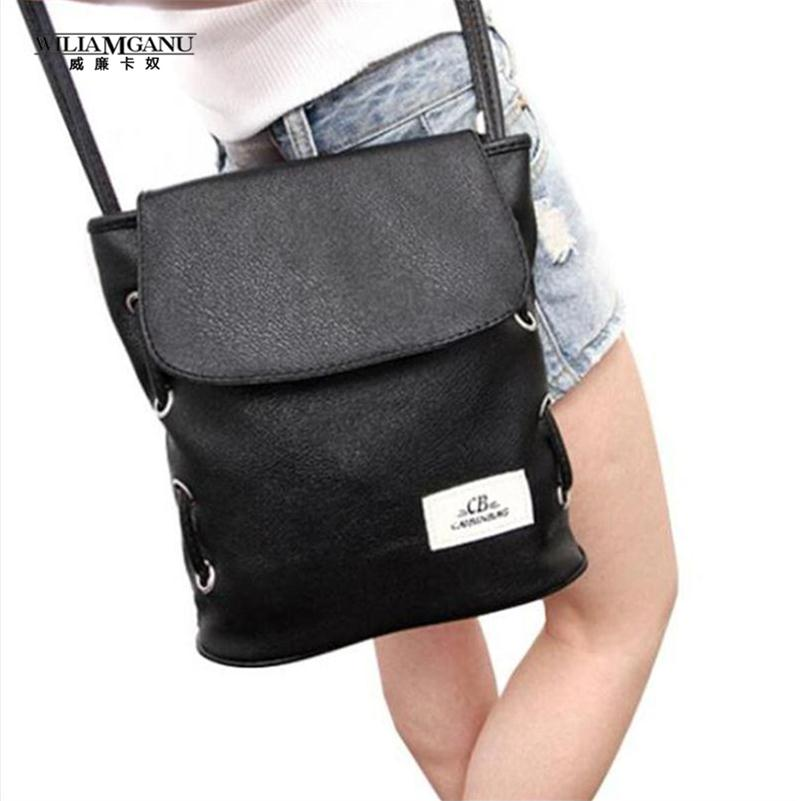 WILIAMGANU 2017 Hot Sale New Fashion Vintage Casual Pu Leather Bags Females Bucket Bag Crossbody Shoulder Bag Free Shipping