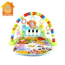3 в 1 детский тренажерный зал коврик-пазл развивающие стойки игрушки Детские музыкальные игры коврик с пианино клавиатура Младенческая коврик для фитнеса подарок для детей