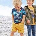 Мальчики одежда наборы 2017 лето Тис + Шорты 2 шт. дети наряды мультфильм печати дети мода набор мальчиков одежда