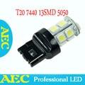 10X car led T20 W21W 7440 13 SMD 5050 led 13smd led turn brake light bulb lamp WHITE RED YELLOW BLUE