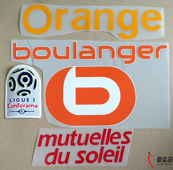 1718 e 1617 olympique de Marseille casa patrocinador patch França League 1  remendo + Mutuelles du 99c0b617f37a6