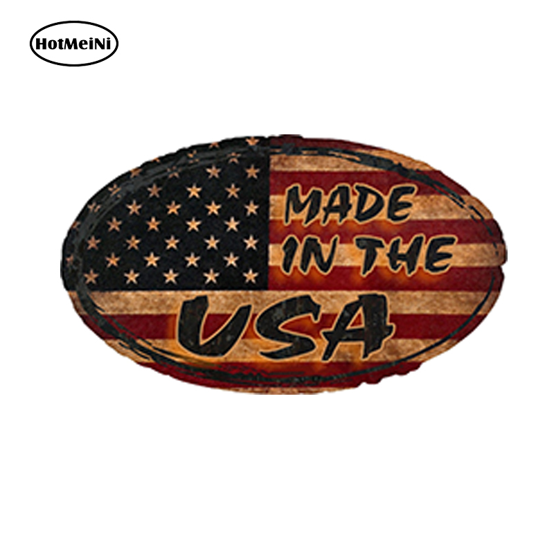 HotMeiNi 13cm x 7cm Car Styling Rat Rod made In The Usa Decal Waterproof Car Sticker Bumper Doors And Windows Accessories ontario knife rat 1