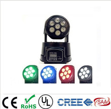 Stage Spot Moving DMX  Led 7x12W RGBW 4IN1  Moving Head  spots Light DJ Party Club Free Shpping