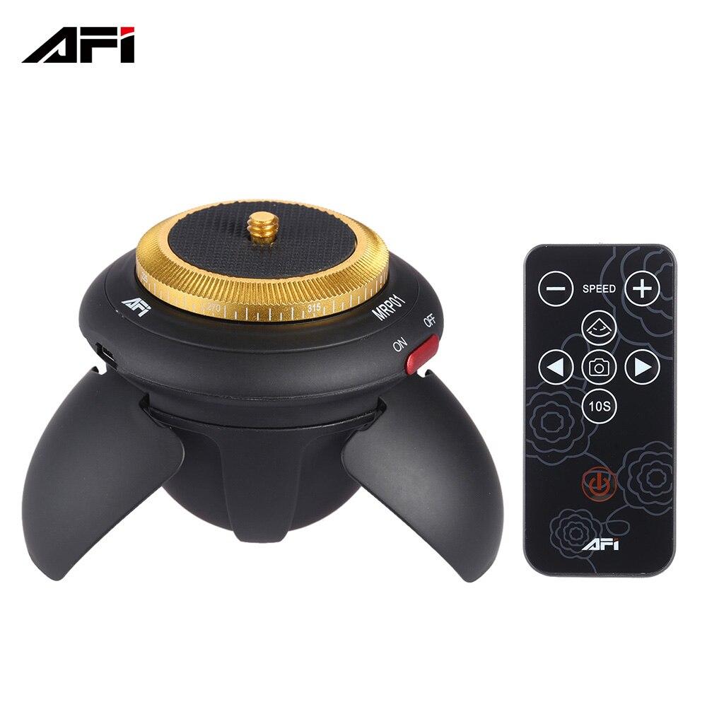 AFI MRP01 cabeza de bola panorámica eléctrica con Control remoto 360 rotación Panorama lapso de tiempo cabeza para GoPro Cámara de Acción negro