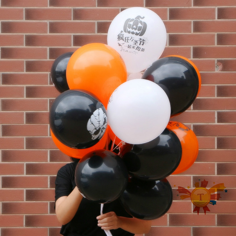 100PCS/Set Happy Halloween Christmas Holiday Decorations Bar Decor Event Party Supplies Inflatable Birthday Toys Balloon