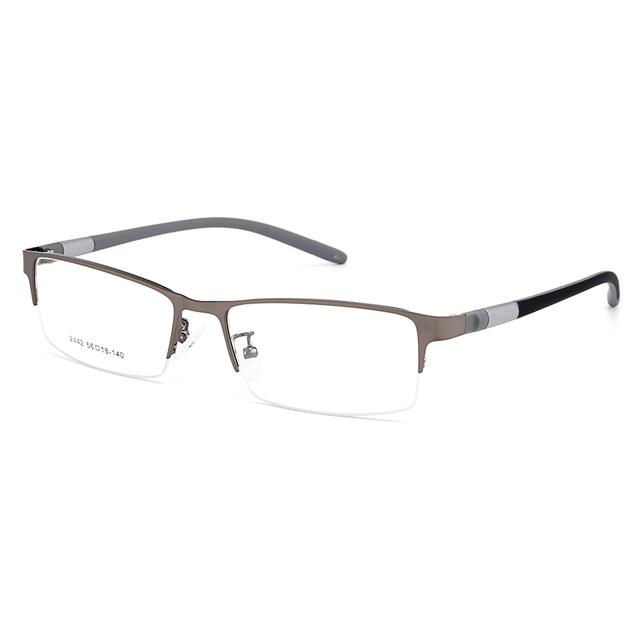 Gmei Optical Men Titanium Alloy Eyeglasses Frame for Men Eyewear Flexible Temples Legs IP Electroplating Alloy Spectacles Y2442 6