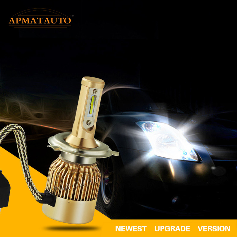 1X H4 HB2 9003 9000LM 55W White Led Headlight Bulb Hi/Lo Beam Car Motorcycle Front Head  Fog Driving Lamp Lighting Scooter Light