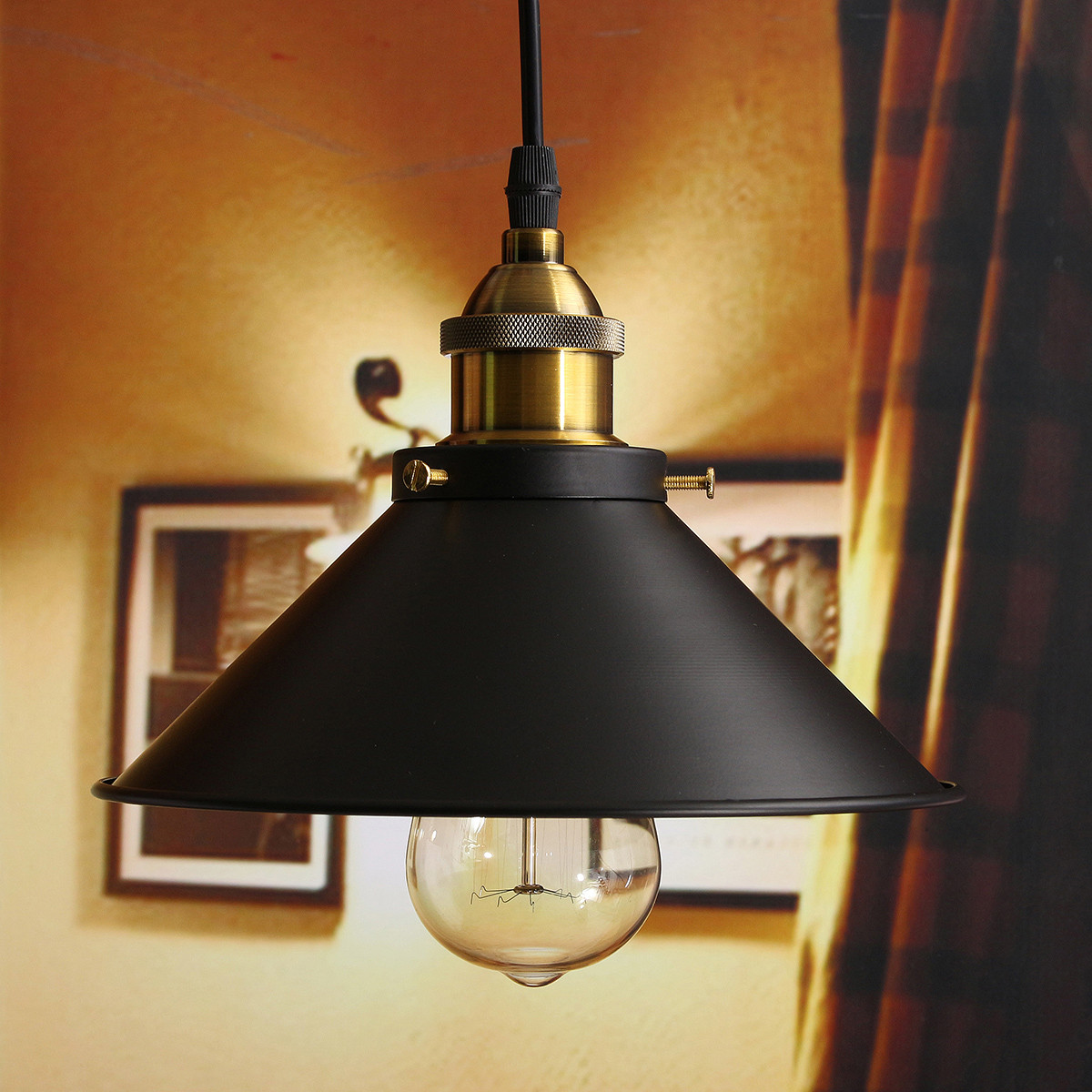 Vintage Industrial Loft Style Ceiling Fixtures Retro Lamp: Loft Vintage Ceiling Lamp Round Retro Ceiling Light