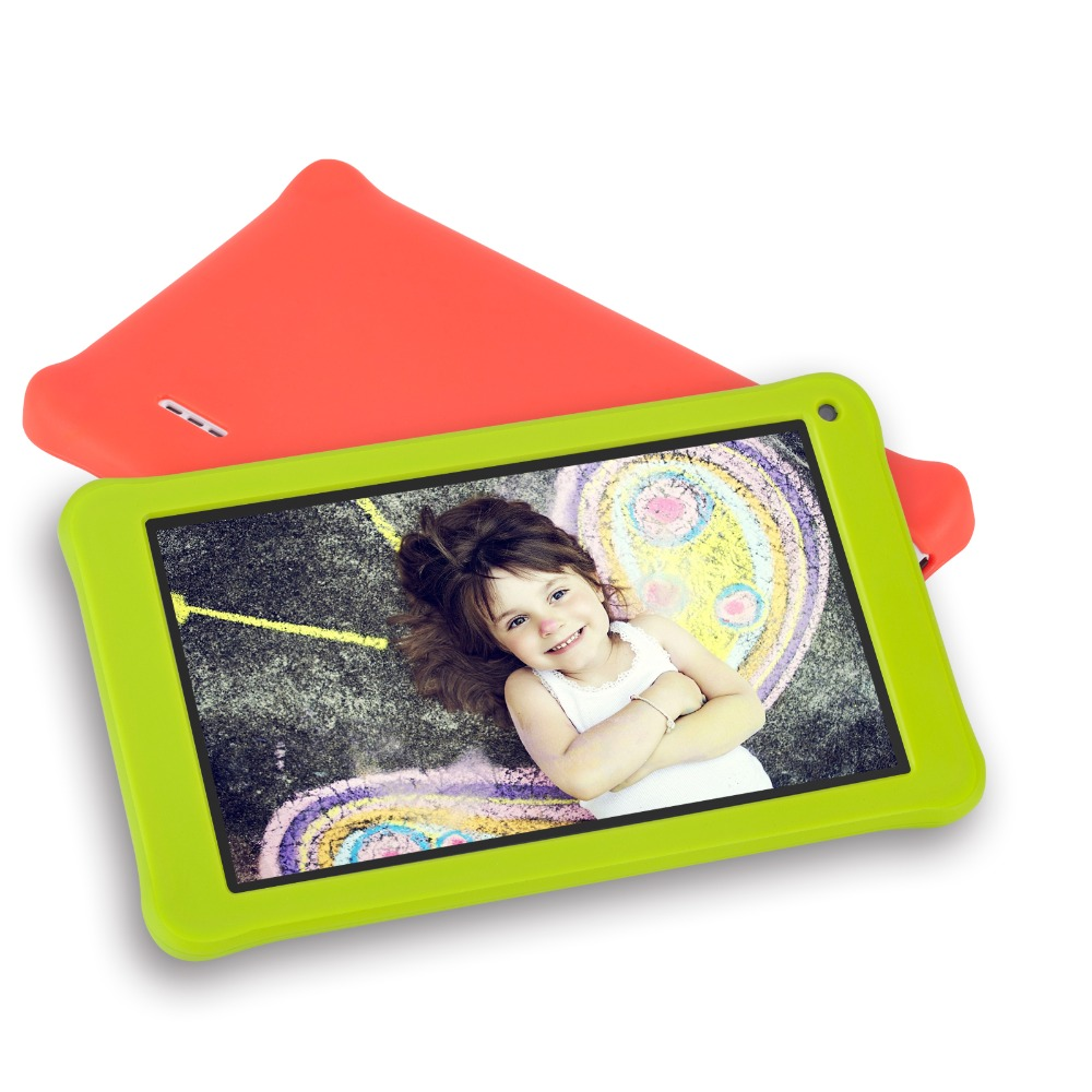 Детское обучающее устройство 7 дюймов детей планшеты PC 1 г + 16 ГБ 4 ядра Android 7,1 двойной камера язык Обучение компьютер игрушка в подарок