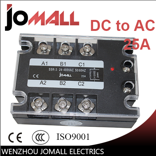 25A DC control AC three phase Solid state relay SSR normally open single phase solid state relay ssr mgr 1 d48120 120a control dc ac 24 480v