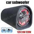 5 pulgadas Altavoz Subwoofer Coche 12 V/24 V//220 V de entrada Automático Portátil de Audio estéreo con Control Remoto para MP3 MP4 DVD Móvil TF USB
