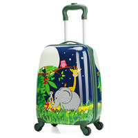 Letrend Cute Animals Rolling Luggage Set Spinner Kids Children Cartton School Backpack Trolley Cabin Students Suitcase Wheels