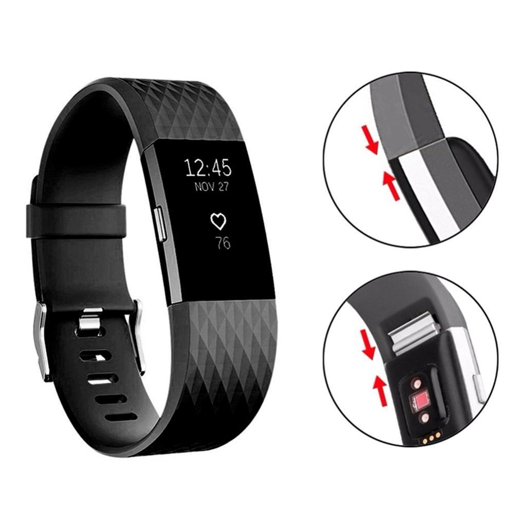 Sport & Unterhaltung Trendmarkierung Atmungsaktiv Und Durable Silikon Handgelenk Uhrenarmbänder Für Fitbit Gebühr 2 Casual Einstellbar Pin Schnallen Uhr Band Für Männer Frauen