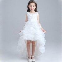 2017 Girls Tutu Dress Princess Baby Bridesmaid Girl Train Wedding Dress Long Tail Ball Gown