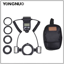 Yongnuo YN24EX E TTL Twin Lite Macro Flash Speedlite for Canon Camera 500d 600d 6 with Dual 2pcs Flash Head + 4pcs Adapter Rings(China)