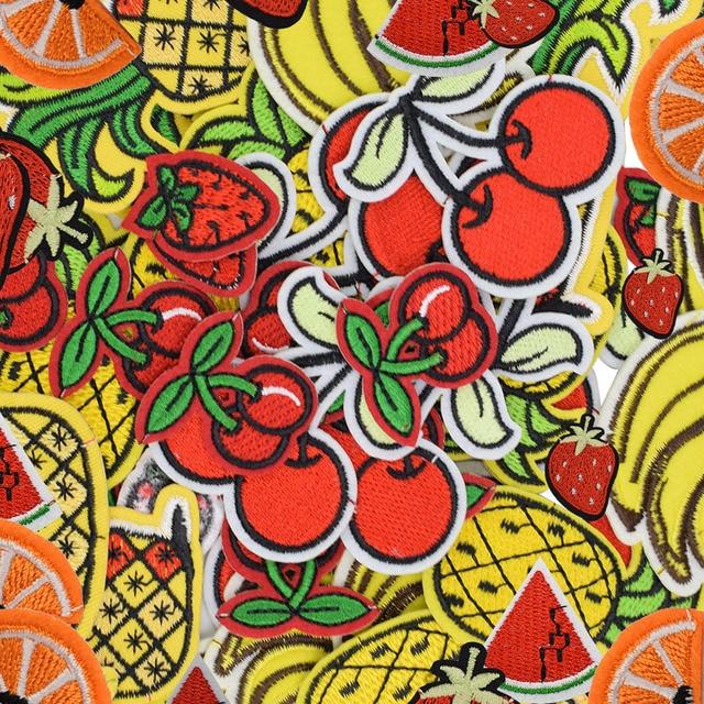 Diy фрукты патчи для одежды утюг вышитые патч аппликация железа на патчи швейные аксессуары знак наклейки для одежды мешок