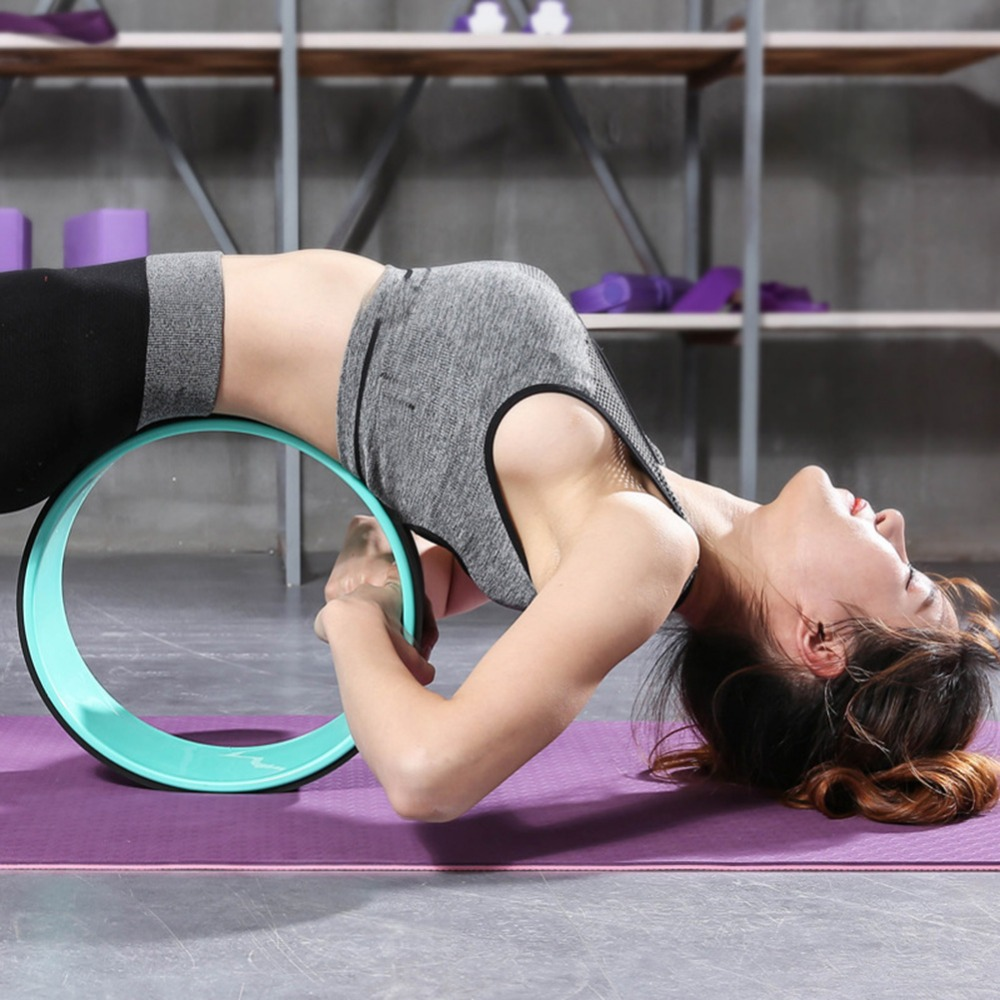 Yoga Wheel Back Training Tool Yoga Pilates Circle TPE Yoga Fitness Roller Wheel Back Training Tool Slimming Magic Waist Shape