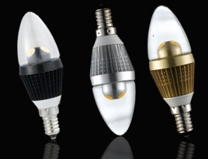 E14 3w 110V 220V Aluminum energy saving LED Candle Bulbs for crystal chandeliers lamp