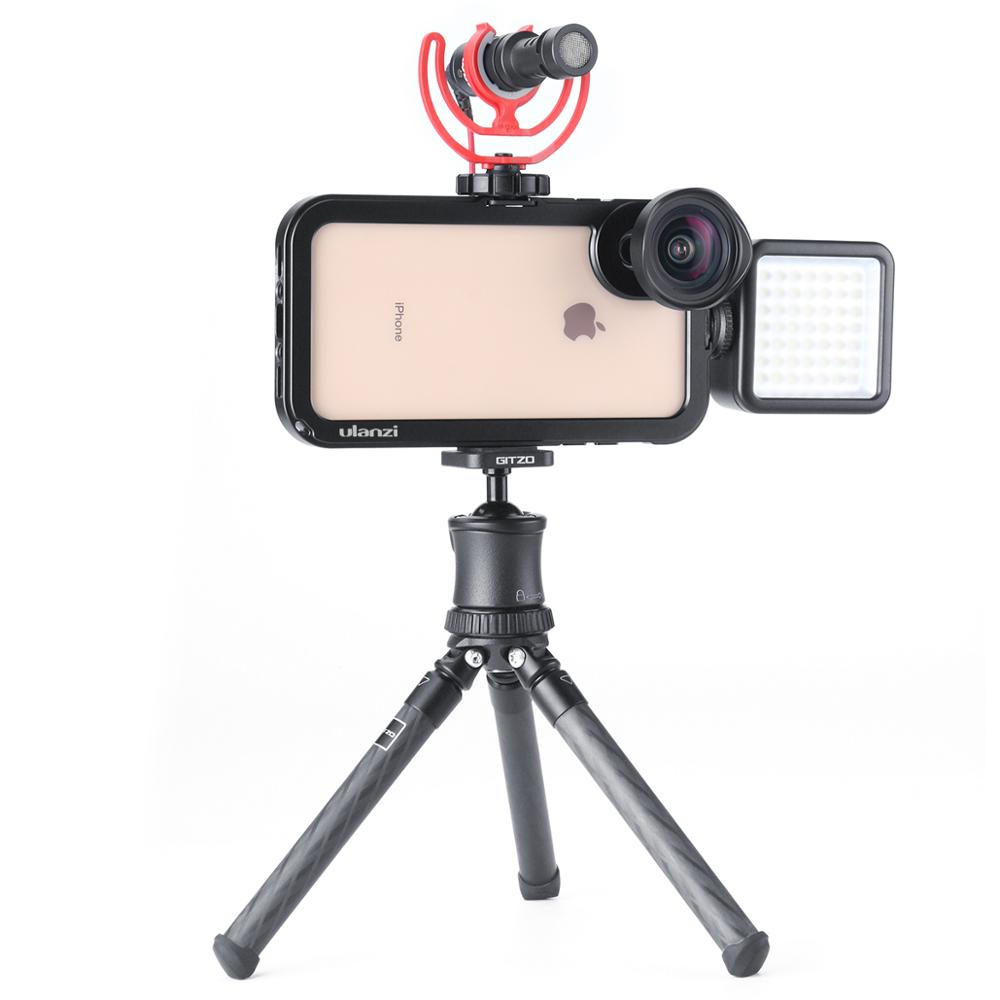 Ulanzi Video Cage Smartphone Video Gear Handheld Phone Gage Supporting External Lens Microphone LED Light Pro iPhone XS/XS Max|Stabilizers| |  - title=