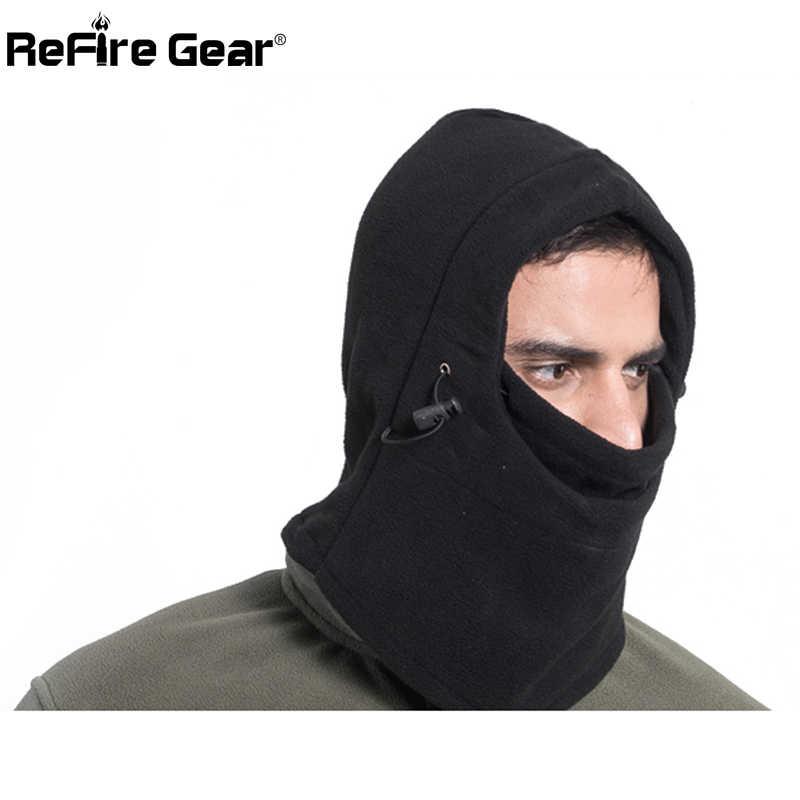 Зимняя теплая тактическая Флисовая Балаклава шапка шейный платок Мужская термальная полярная маска для лица воротник голова Skullies ветрозащитные мотоциклетные шапочки