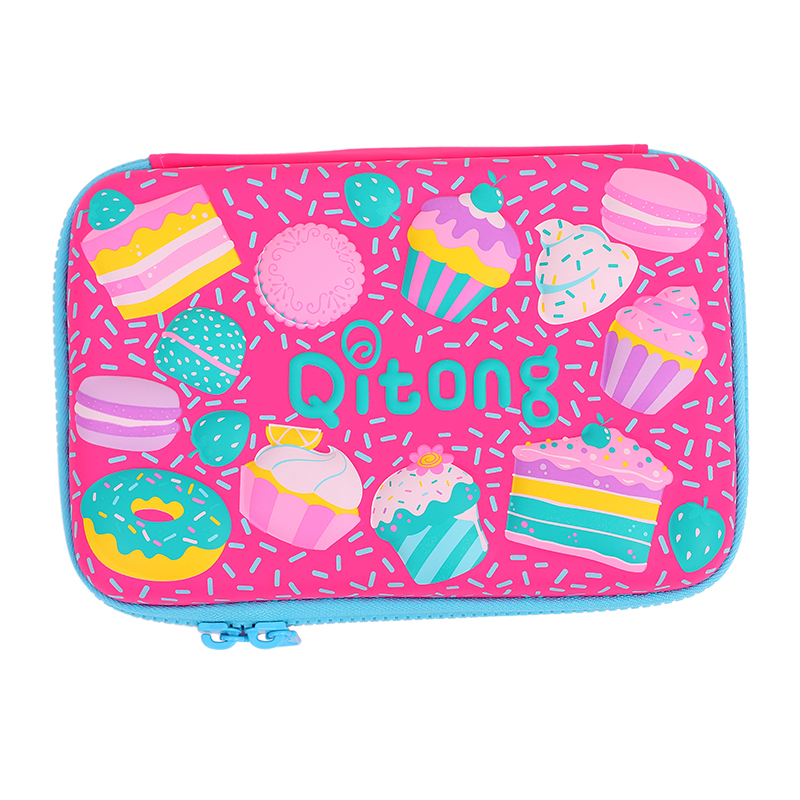 Candy Color Large Capacity Pencil Case Eva Pen Pouch Bag For Girls Cute School Pencil Box Sweet Cake Pencilcase Stationery Store baby boys girls sets 2018 winter t shirt pants cotton kids costume girl clothes suits for boy casual children clothing 3cs204