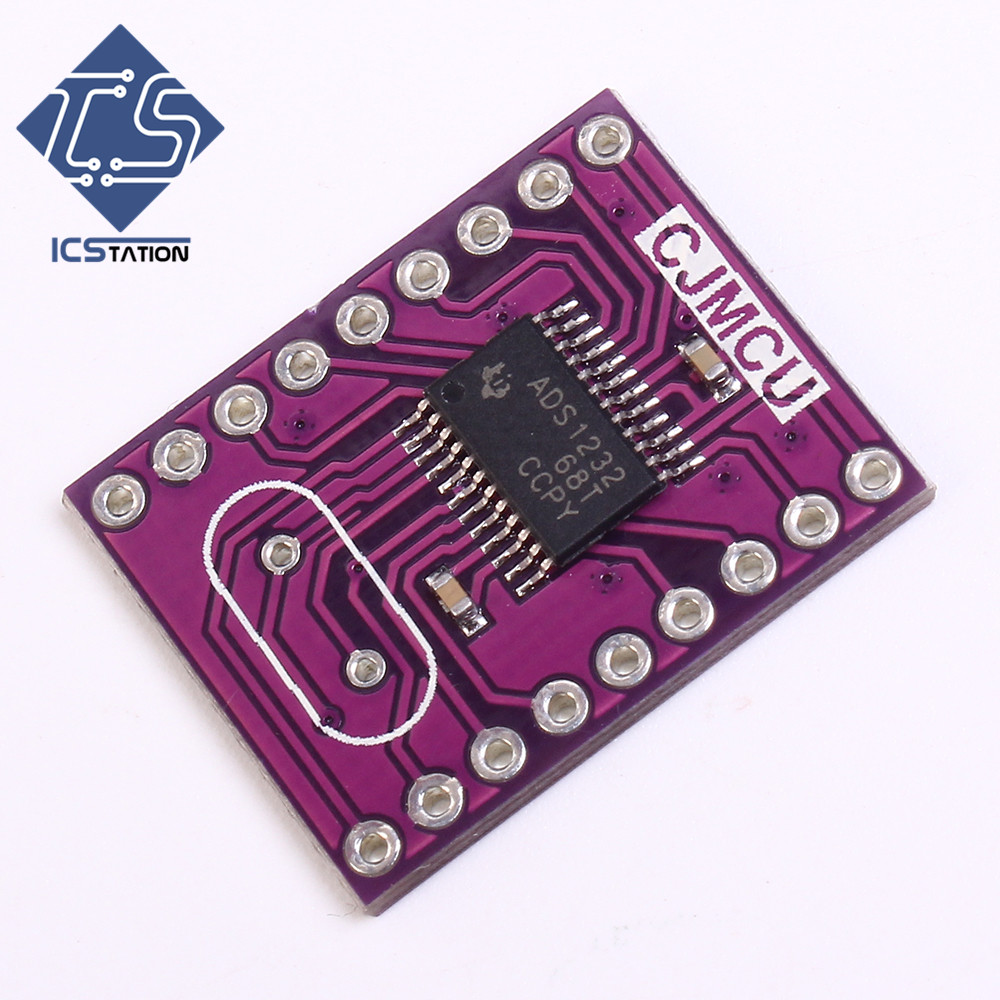 ADS1232 24 Bit Low Noise A/D Analog To Digital Converter Module 2.7-5.3V For Arduino pcf8591 8 bit a d d a converter module
