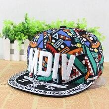 Popular Adjustable Graffiti Baseball Cap Hip Hop Fluorescent Snapback Caps Men Casquette Women Boy Hat visor sunhats