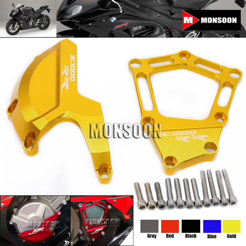 For BMW S1000RR HP4 2009-2015 2010 2011 2012 2013 2014 Motorcycle Engine Saver Stator Case Guard Cover Slider Protector Gold