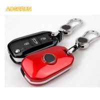 AOSRRUN  carcasa de llave ABS  cubierta de llave  cubierta de llave  accesorios de coche para Peugeot 308 408 508 2008 3008 301  estilo de coche|peugeot 301 accessories|accessories for|accessories accessories -