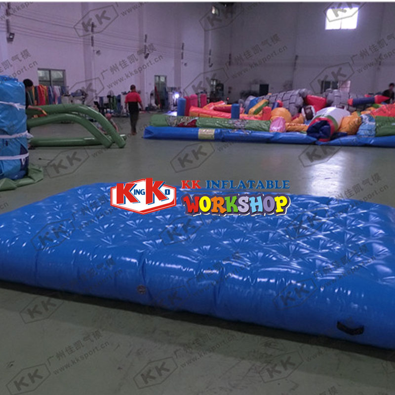 Sports Games series Blue square inflatable cushion pull pointSports Games series Blue square inflatable cushion pull point