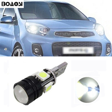 BOAOSI 1x T10 LED 5050 4smd + 1.5W Car LED T10 Canbus W5W No error Wedge Light For Kia sportage rio k2 k3 k5 ceed cerato sorento
