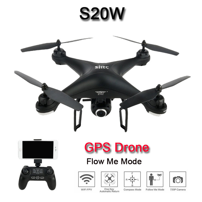 SJ R C S20W 720P 1080P GPS WIFI FPV RC Drone profissional Quadcopter drone gps with
