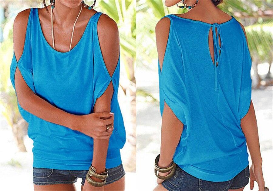 HTB16JD9KVXXXXaZXVXXq6xXFXXXV - T shirt O neck Short sleeve Off shoulder Sexy Loose Casual