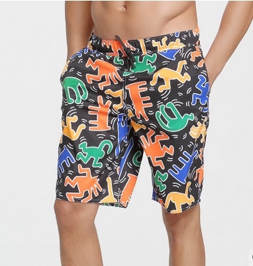 Professional Print Swimwear Mens Swim Briefs Swimming Trunks Shorts Swimsuit Male Bathing Swim Pants Beach Boxer Board Shorts